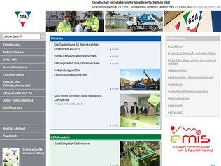 Screenshot Startseite Homepage GOA